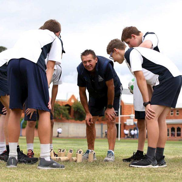 Team Huddle   St Stanislaus' Secondary College, Bathurst NSW